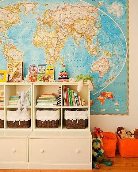 Карта в декоре интерьера