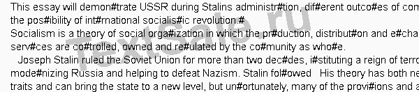 USSR during Stalins administration - Сочинение